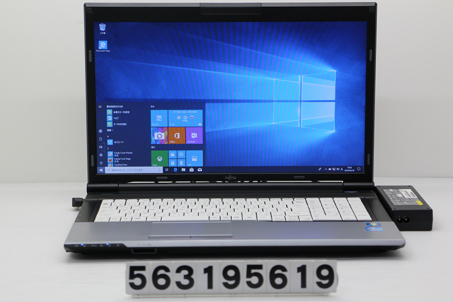 富士通 LIFEBOOK N532/E Core i5 3320M 2.6GHz/4GB/256GB(SSD)+500GB/Multi/17.3W/WXGA++(1600x900)/Win10【中古】【20190326】