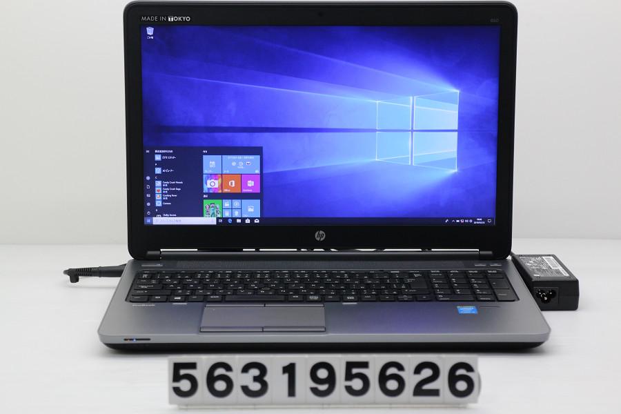 hp ProBook 650 G1 Core i5 4310M 2.7GHz/8GB/256GB(SSD)/Multi/15.6W/FHD(1920x1080)/RS232C/Win10【中古】【20190327】