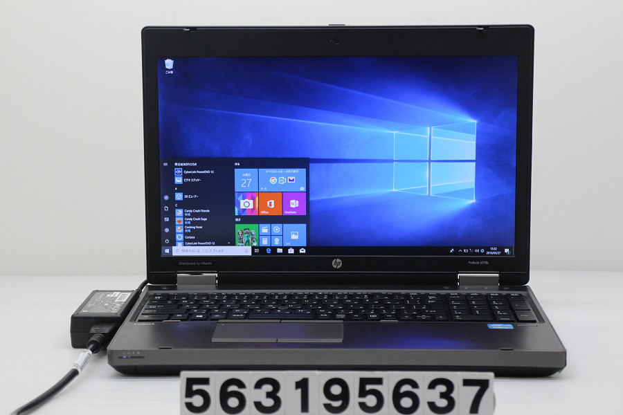 hp ProBook 6570b Core i5 3230M 2.6GHz/4GB/256GB(SSD)/Multi/15.6W/FHD(1920x1080)/RS232C/Win10 バッテリー完全消耗【中古】【20190328】
