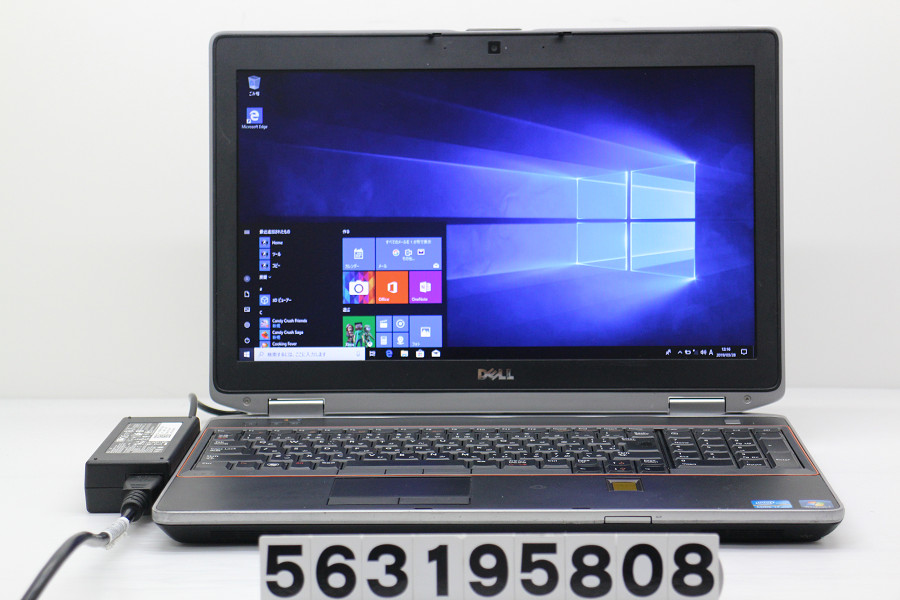 DELL Latitude E6520 Core i7 2640M 2.8GHz/4GB/256GB(SSD)/Multi/15.6W/WXGA++(1600x900)/Win10 バッテリー完全消耗【中古】【20190329】