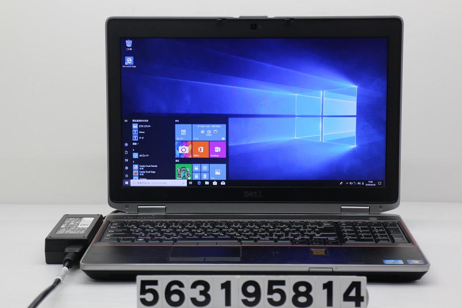 DELL Latitude E6520 Core i7 2640M 2.8GHz/4GB/256GB(SSD)/Multi/15.6W/WXGA++(1600x900)/Win10【中古】【20190329】
