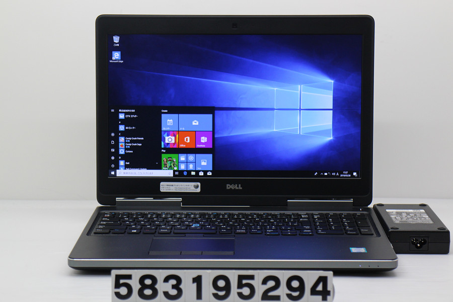 DELL Precision 7510 Core i7 6820HQ 2.7GHz/16GB/256GB(SSD)/15.6W/FHD(1920x1080)/Win10/Quadro M2000M【中古】【20190329】