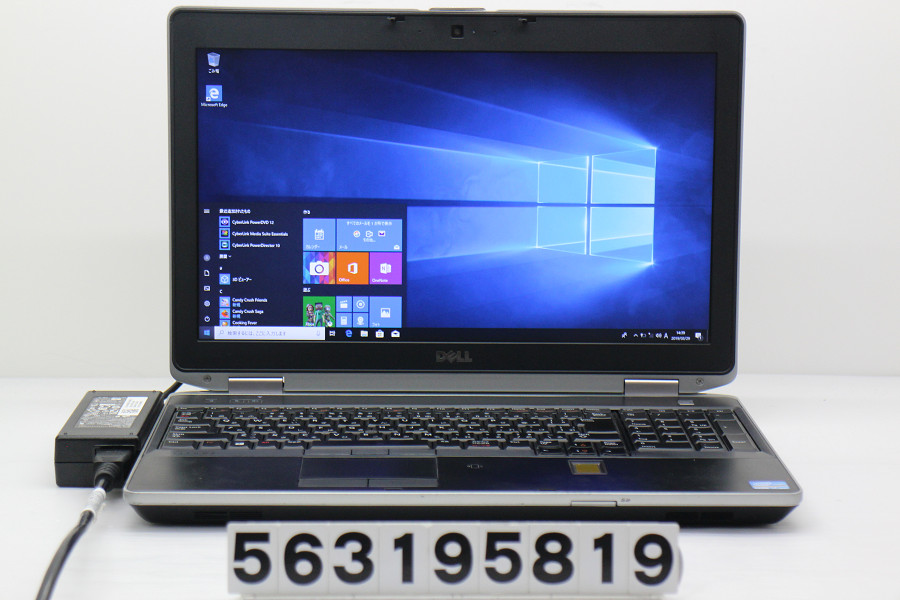 DELL Latitude E6530 Core i7 3540M 3GHz/4GB/256GB(SSD)/Multi/15.6W/WXGA++(1600x900)/Win10 バッテリー完全消耗【中古】【20190330】