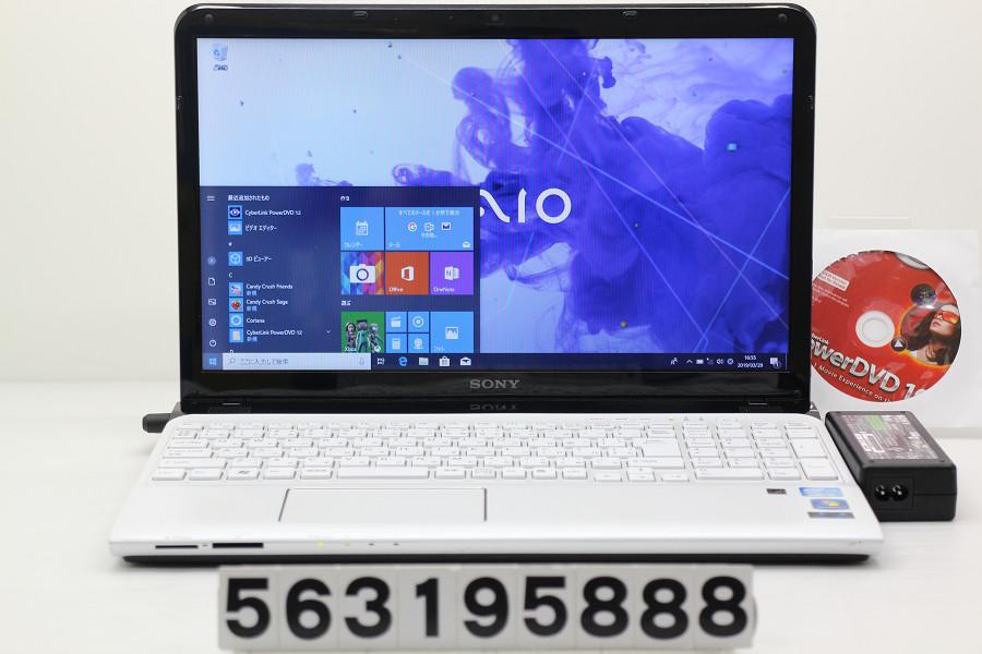 SONY SVE15117FJW Core i5 2450M 2.5GHz/8GB/750GB/Blu-ray/15.5W/FWXGA(1366x768)/Win10【中古】【20190330】
