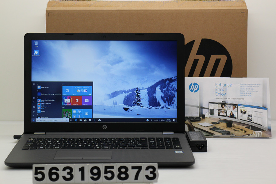 hp HP 250 G6 Core i3 7020U 2.3GHz/4GB/128GB(SSD)/Multi/15.6W/FHD(1920x1080)/Win10【中古】【20190330】