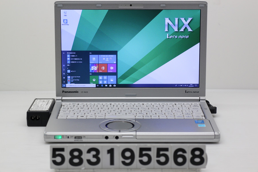 Panasonic CF-NX3YD5CS Core i5 4200U 1.6GHz/4GB/128GB(SSD)/12.1W/WXGA++(1600x900)/Win10 ACエラー【中古】【20190403】