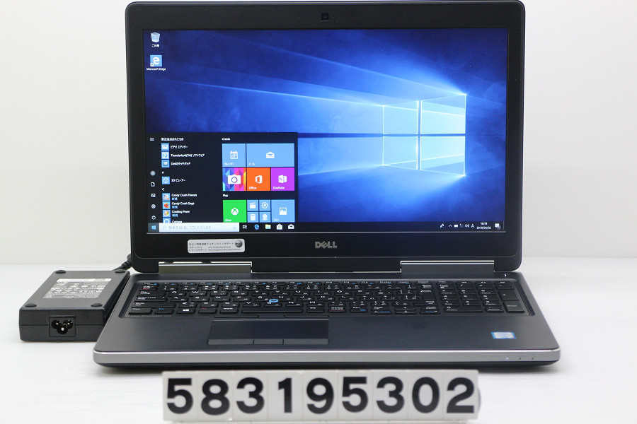 DELL Precision 7510 Core i7 6820HQ 2.7GHz/16GB/256GB(SSD)/15.6W/FHD(1920x1080)/Win10/Quadro M2000M【中古】【20190403】