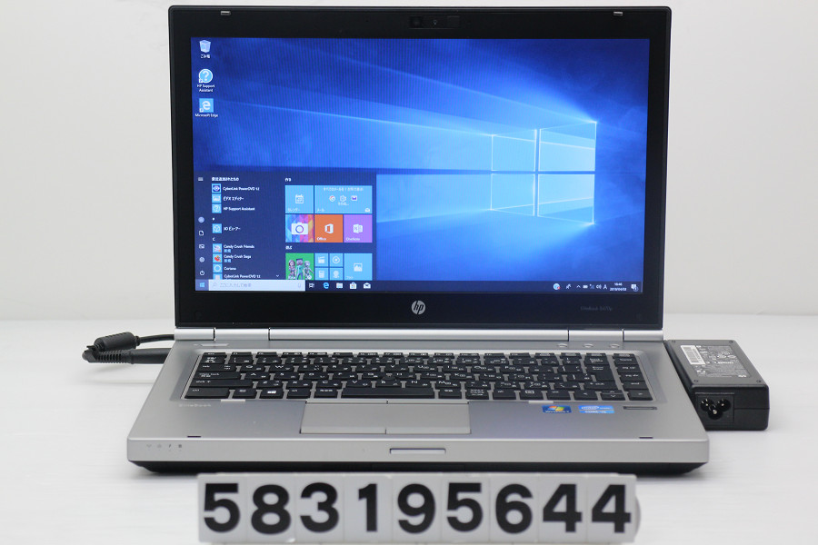 hp EliteBook 8470p Core i5 3320M 2.6GHz/8GB/320GB/Multi/14W/WXGA++(1600x900)/Win10【中古】【20190404】
