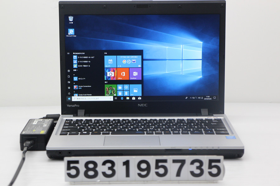 NEC PC-VJ25LCZDK Core i3 4100M 2.5GHz/4GB/500GB/13.3W/WXGA++(1600x900)/Win10 バッテリー完全消耗【中古】【20190404】