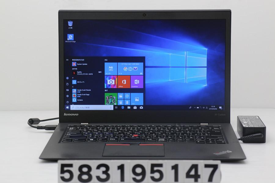 Lenovo ThinkPad X1 Carbon Core i5 5300U 2.3GHz/8GB/240GB(SSD)/14W/FHD(1920x1080)/Win10 TPM難あり【中古】【20190405】