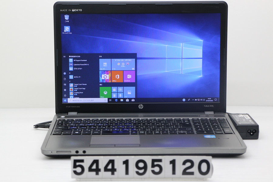 hp ProBook 4540s Core i5 3210M 2.5GHz/4GB/256GB(SSD)/DVD/15.6W/FWXGA(1366x768)/Win10【中古】【20190409】