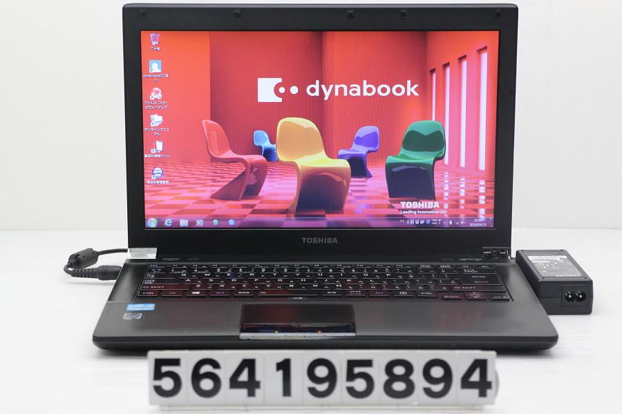 東芝 dynabook R742/H Core i5 3340M 2.7GHz/4GB/320GB/Multi/14W/FWXGA(1366x768)/Win7 外装状態悪い【中古】【20190425】