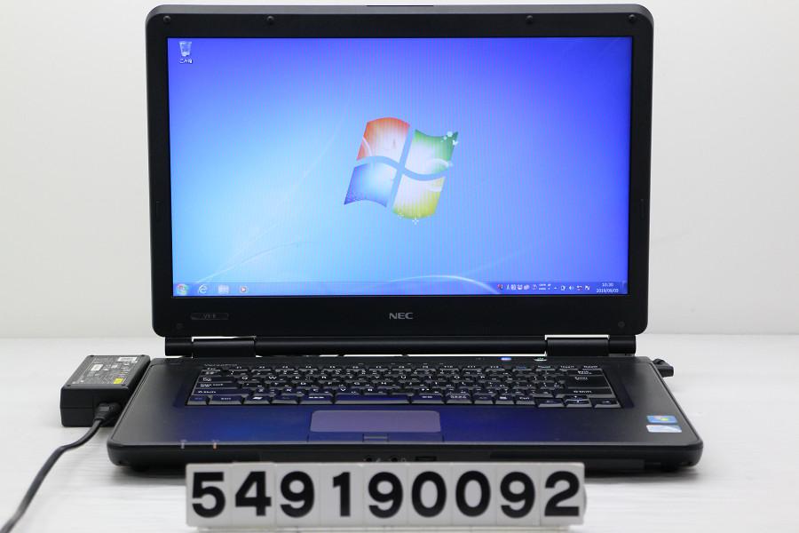 NEC PC-VK20EXZCB Celeron P4600 2GHz/2GB/160GB/Multi/15.6W/FWXGA(1366x768)/Win7 バッテリー完全消耗【中古】【20190906】