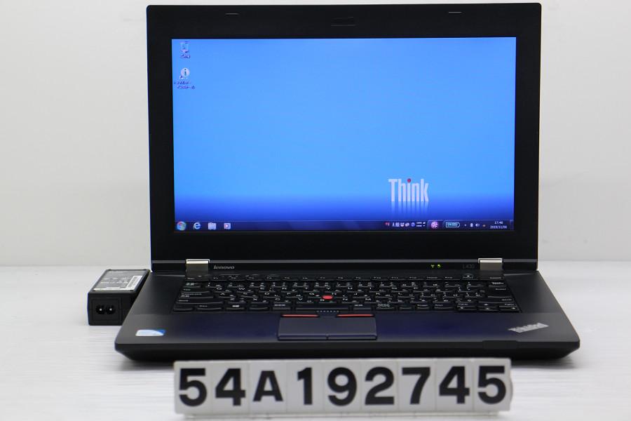 Lenovo ThinkPad L430 Celeron B830 1.8GHz/2GB/320GB/DVD/14W/FWXGA(1366x768)/Win7 キーボード難あり【中古】【20191108】