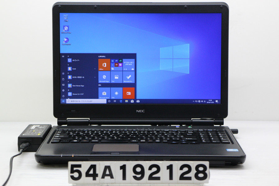 NEC PC-VK25TXZDF Core i5 3210M 2.5GHz/4GB/320GB/DVD/15.6W/FWXGA(1366x768)/RS232C/Win10 バッテリー完全消耗【中古】【20191204】