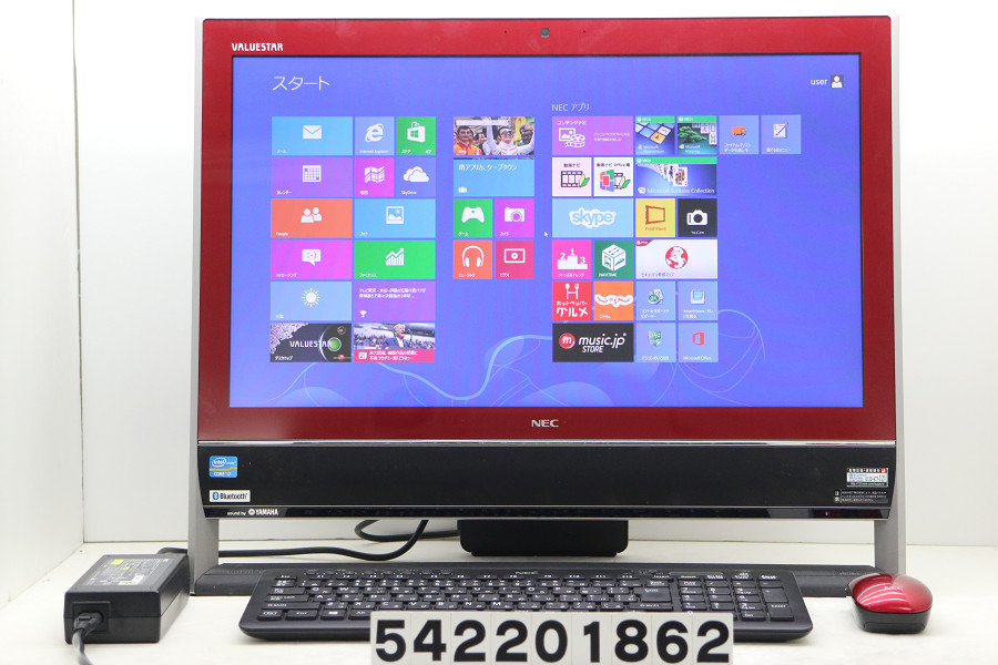 NEC PC-VN770LS3ER Core i7 3630QM 2.4GHz/8GB/2TB/Blu-ray/21.5W/FHD(1920x1080)/Win8 光学ドライブ難あり【中古】【20200222】