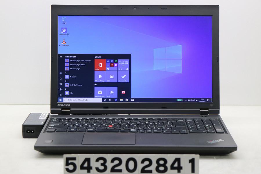 Lenovo ThinkPad L540 Core i3 4000M 2.4GHz/4GB/256GB(SSD)/Multi/15.6W/FWXGA(1366x768)/Win10【中古】【20200331】