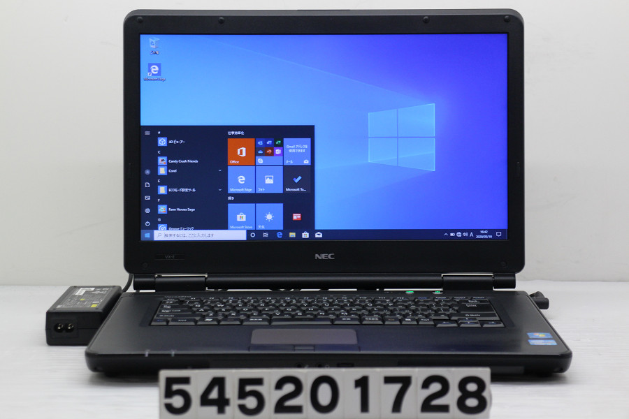 NEC PC-VK25TXZCE Core i5 3210M 2.5GHz/4GB/128GB(SSD)/Multi/15.6W/FWXGA(1366x768)/RS232C/Win10【中古】【20200520】