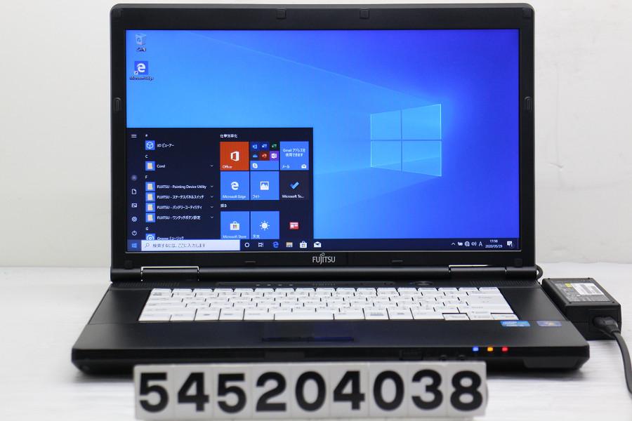 富士通 LIFEBOOK A561/C Core i5 2520M 2.5GHz/4GB/128GB(SSD)/DVD/15.6W/FWXGA(1366x768)/Win10【中古】【20200530】