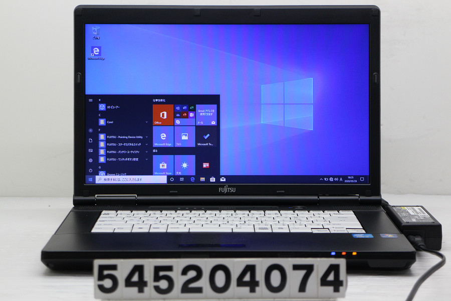 富士通 LIFEBOOK A561/C Core i3 2310M 2.1GHz/4GB/128GB(SSD)/DVD/15.6W/FWXGA(1366x768)/Win10【中古】【20200530】