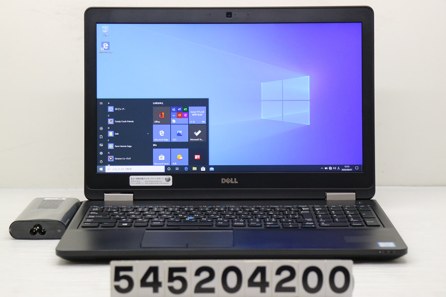 DELL Latitude E5570 Core i5 6300U 2.4GHz/8GB/256GB(SSD)/15.6W/FHD(1920x1080)/Win10【中古】【20200602】