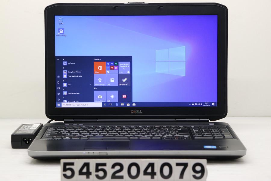 DELL Latitude E5530 Core i5 3230M 2.6GHz/4GB/256GB(SSD)/Multi/15.6W/FWXGA(1366x768)/Win10【中古】【20200602】