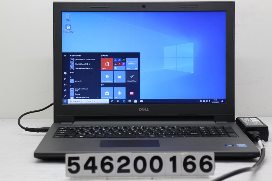 DELL Vostro 15 3549 Core i5 5200U 2.2GHz/4GB/256GB(SSD)/Multi/15.6W/FWXGA(1366x768)/Win10 バッテリー完全消耗【中古】【20200604】