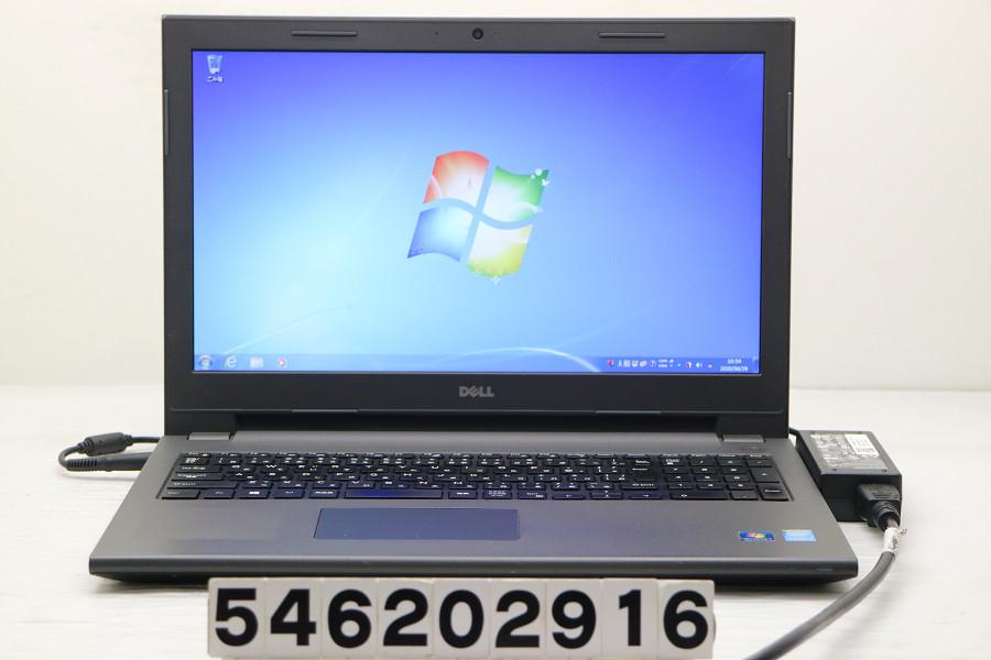DELL Vostro 15 3546 Core i3 4005U 1.7GHz/4GB/256GB(SSD)/Multi/15.6W/FWXGA(1366x768)/Win7 バッテリー完全消耗【中古】【20200630】