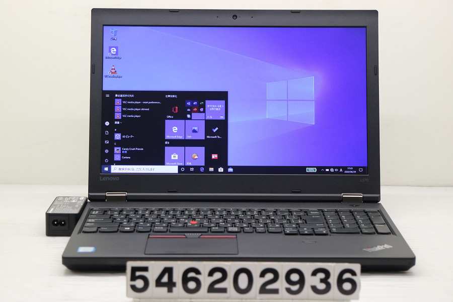 Lenovo ThinkPad L570 Core i3 7100U 2.4GHz/4GB/256GB(SSD)/Multi/15.6W/FWXGA(1366x768)/Win10【中古】【20200701】