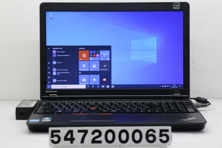 Lenovo ThinkPad Edge E520 Core i3 2310M 2.1GHz/4GB/256GB(SSD)/Multi/15.6W/FWXGA(1366x768)/Win10【中古】【20200709】