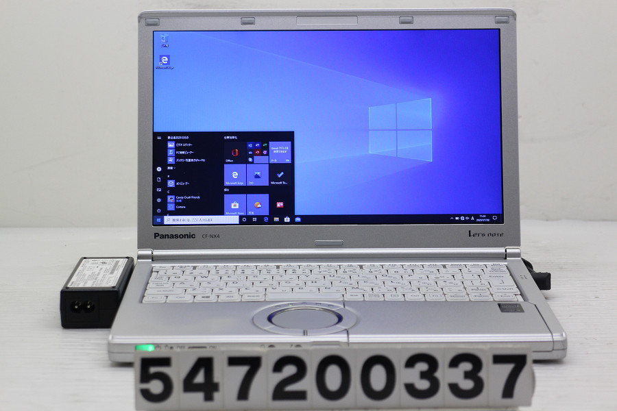 Panasonic CF-NX4EDGCS Core i5 5300U 2.3GHz/4GB/256GB(SSD)/12.1W/WXGA++(1600x900)/Win10 ACエラー【中古】【20200714】