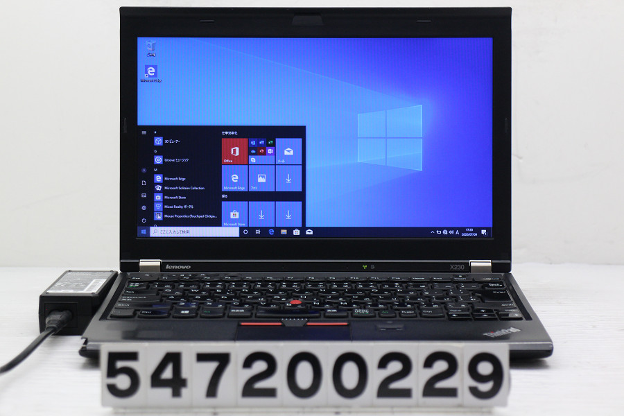 Lenovo ThinkPad X230 Core i5 3320M 2.6GHz/4GB/128GB(SSD)/12.5W/FWXGA(1366x768)/Win10 右クリック不良【中古】【20200714】