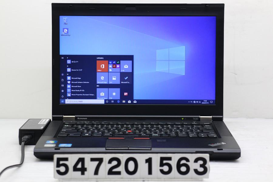 Lenovo ThinkPad T430 Core i5 3320M 2.6GHz/4GB/128GB(SSD)/14W/FWXGA(1366x768)/Win10 バッテリー認識しない【中古】【20200717】