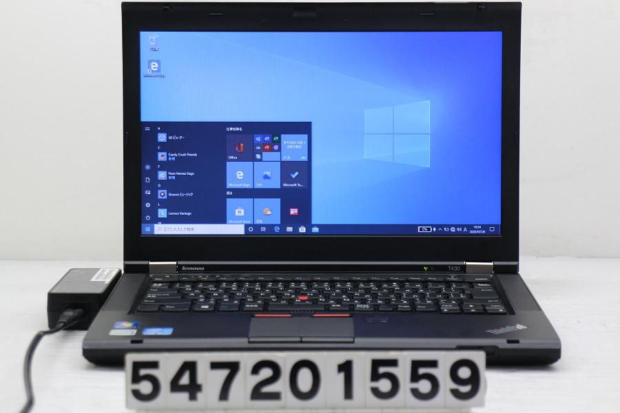Lenovo ThinkPad T430 Core i5 3320M 2.6GHz/4GB/128GB(SSD)/14W/FWXGA(1366x768)/Win10 指紋認証不良【中古】【20200721】