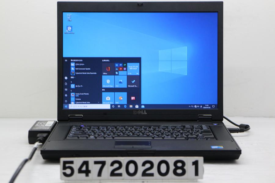DELL Latitude E5500 Core2Duo P8700 2.53GHz/4GB/128GB(SSD)/Multi/15.4W/WXGA(1280x800)/RS232C/Win10 バッテリー完全消耗【中古】【20200721】