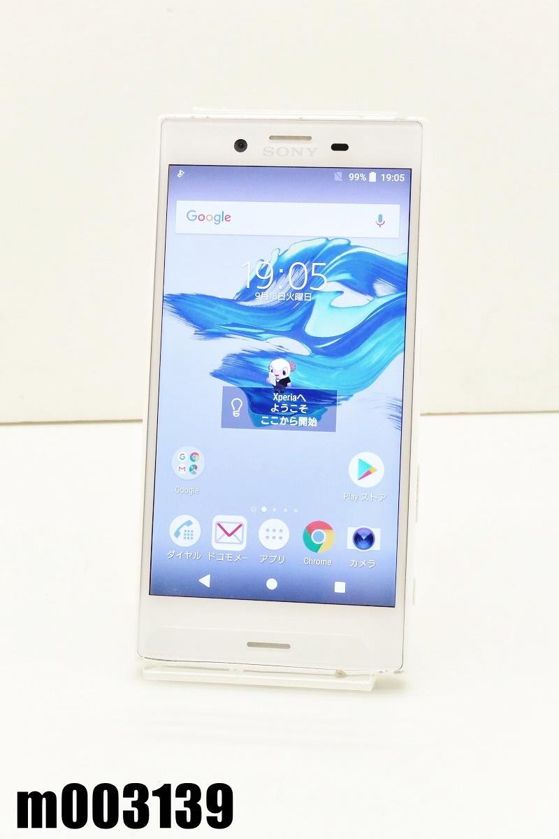 白ロム SIMフリー docomo SIMロック解除済 SONY Xperia X Compact 32GB Android8 ホワイト SO-02J 初期化済 【m003139】 【中古】【K20200307】