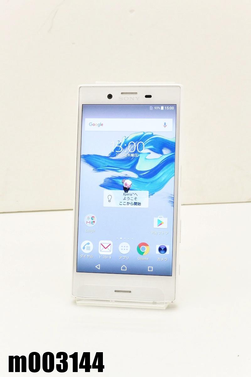 白ロム SIMフリー docomo SIMロック解除済 SONY Xperia X Compact 32GB Android6.0.1 ホワイト SO-02J 初期化済 【m003144】 【中古】【K20200307】
