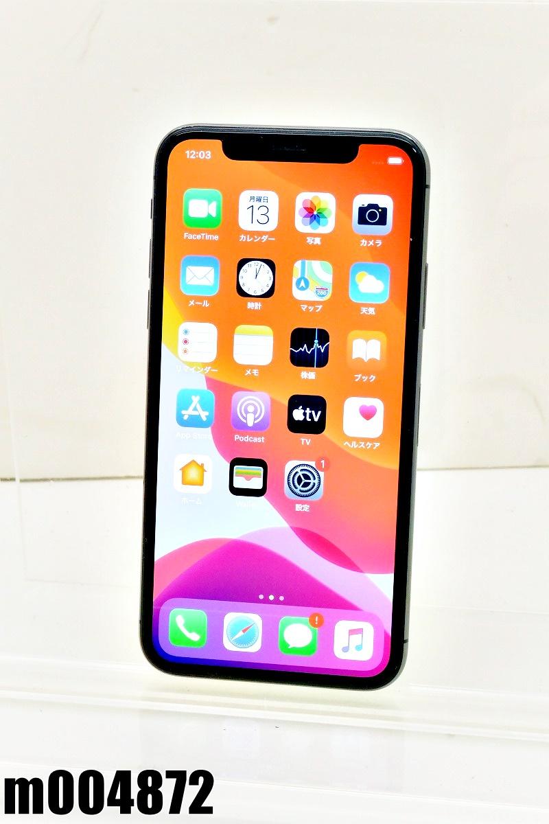 白ロム SoftBank SIMロック中 Apple iPhoneX 64GB iOS13.5.1 Space Gray MQAX2J/A 初期化済 【m004872】 【中古】【K20200713】