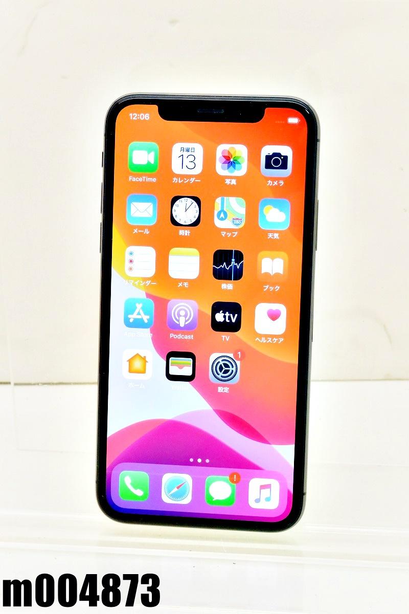 SIMフリー Apple iPhoneX 256GB iOS13.5.1 Space Gray MQC12J/A 初期化済 【m004873】 【中古】【K20200713】