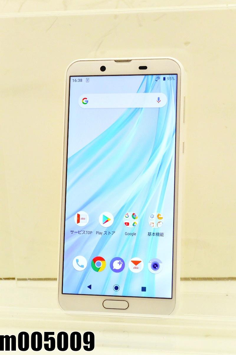 白ロム SIMフリー au SIMロック解除済 SHARP AQUOS sense2 32GB Android9 シルキーホワイト SHV43 初期化済 【m005009】 【中古】【K20200727】