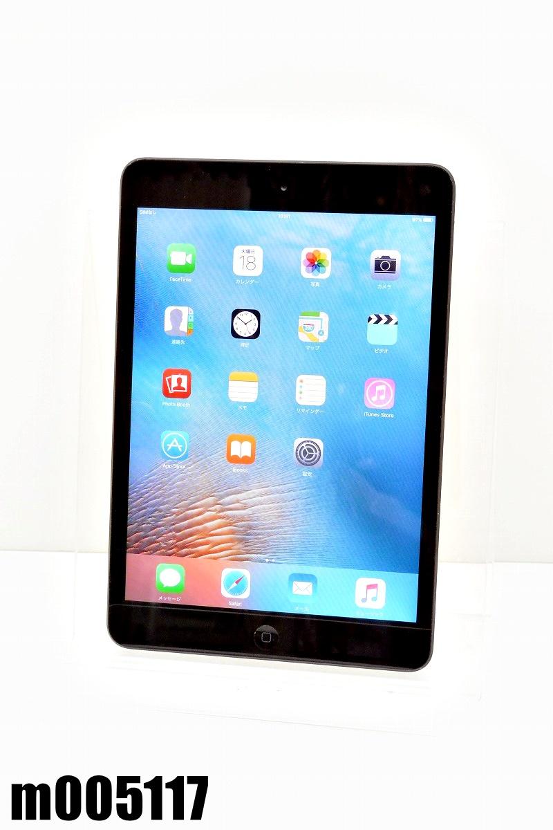 白ロム SoftBank SIMロック中 Apple iPad mini+Cellular 64GB iOS9.3.6 ブラック MD542J/A 初期化済 【m005117】 【中古】【K20200818】