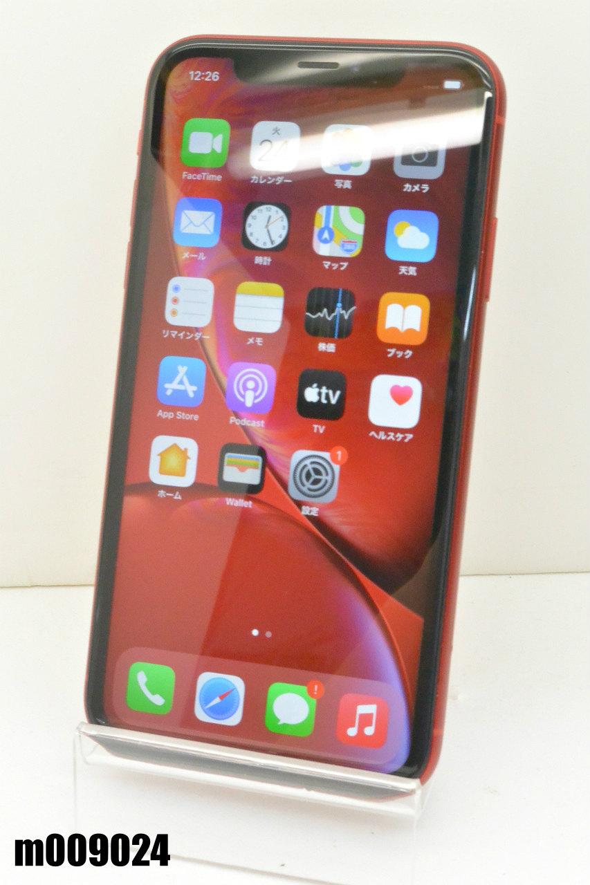 白ロム 返品送料無料 SIMフリー ついに再販開始 SoftBank SIMロック解除済 Apple iPhoneXR 128GB iOS14.7.1 m009024 初期化済 中古 PRODUCT MT0N2J A RED K20210824