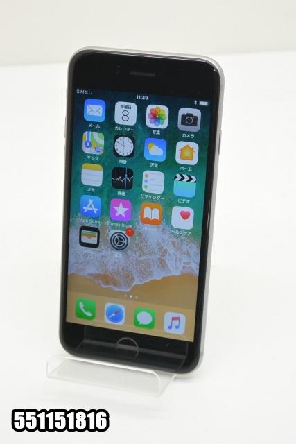 白ロム Apple iPhone 6s au 16GB ios11.0.2 MKQJ2J/A 初期化済 スペースグレイ 【中古】【K20171209】