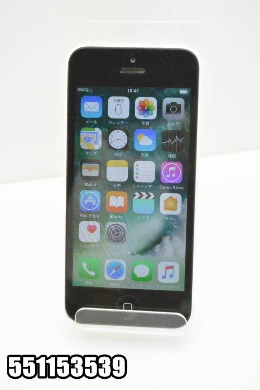 白ロム au apple iPhone5c 16GB iOS10.3.3 ホワイト ME541J/A 初期化済 【551153539】 【K20180807】:TCEダイレクト店