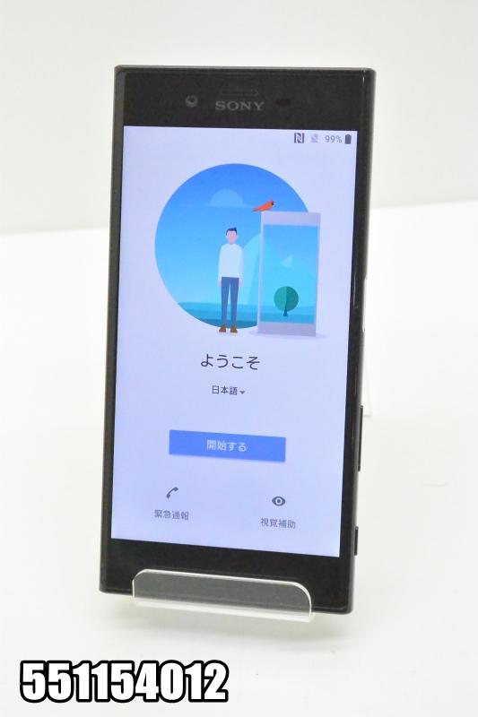 白ロム docomoSIMロック解除済み SONY Xperia XZ 32GB Android8 ブラック SO-01J 初期化済 【551154012】 【中古】【K20181019】