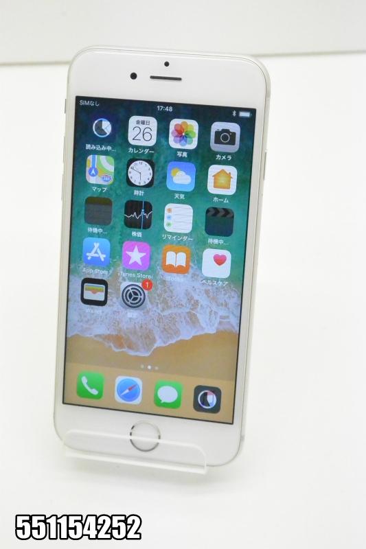 白ロム docomo Apple iPhone 6s iOS シルバー MKQK2J/A 初期化済 【551154252】 【中古】【K20181027】