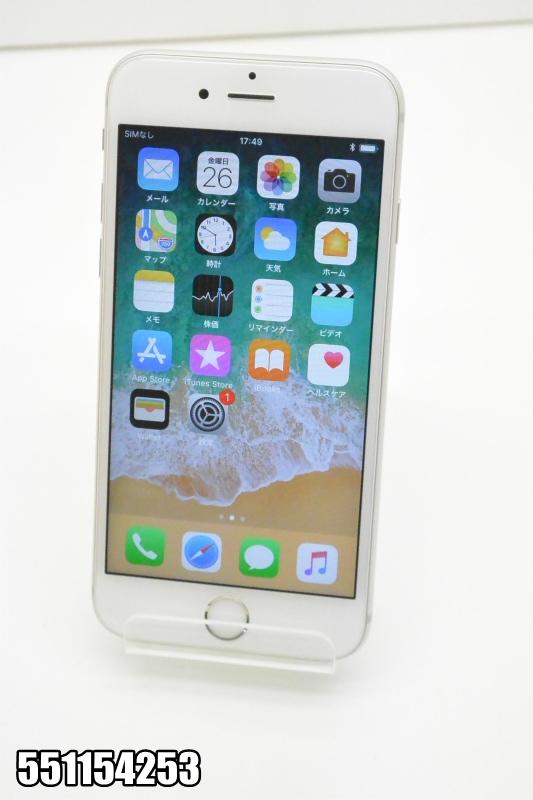 白ロム docomo Apple iPhone 6s iOS シルバー MKQK2J/A 初期化済 【551154253】 【中古】【K20181027】