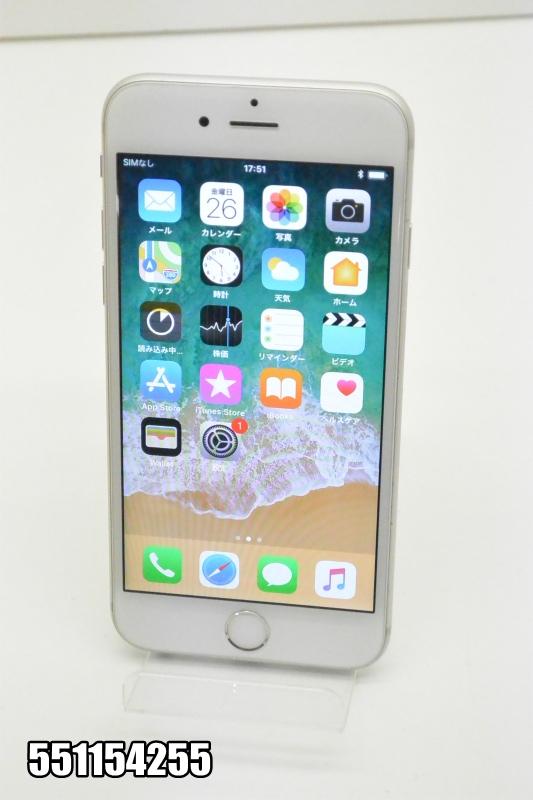 白ロム docomo Apple iPhone 6s iOS シルバー MKQK2J/A 初期化済 【551154255】 【中古】【K20181027】