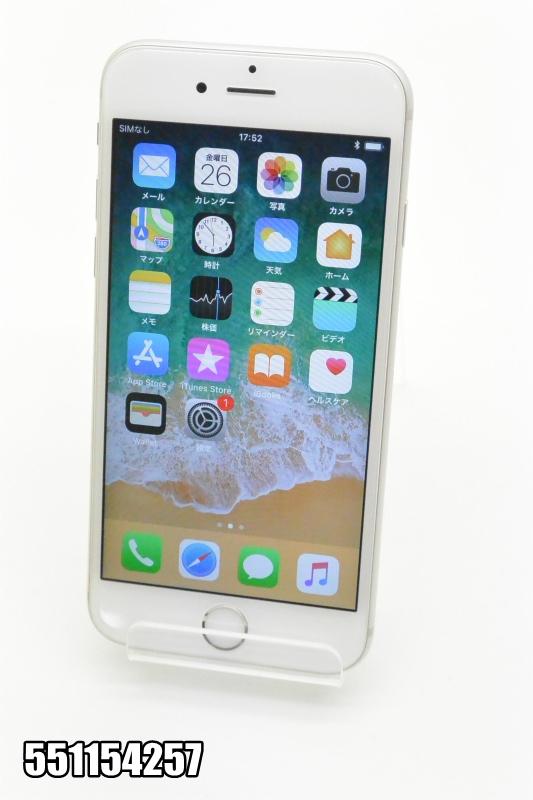 白ロム docomo Apple iPhone 6s iOS シルバー MKQK2J/A 初期化済 【551154257】 【中古】【K20181027】