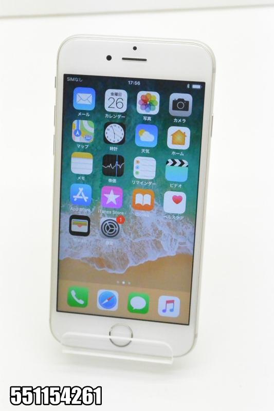 白ロム docomo Apple iPhone 6s iOS シルバー MKQK2J/A 初期化済 【551154261】 【中古】【K20181027】